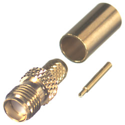 SMA Reverse Polarity Female Crimp RG58 Connector