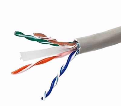 Cat6 UTP Solid Plenum Cable with Spline - 1,000ft Pull Box - UL Listed