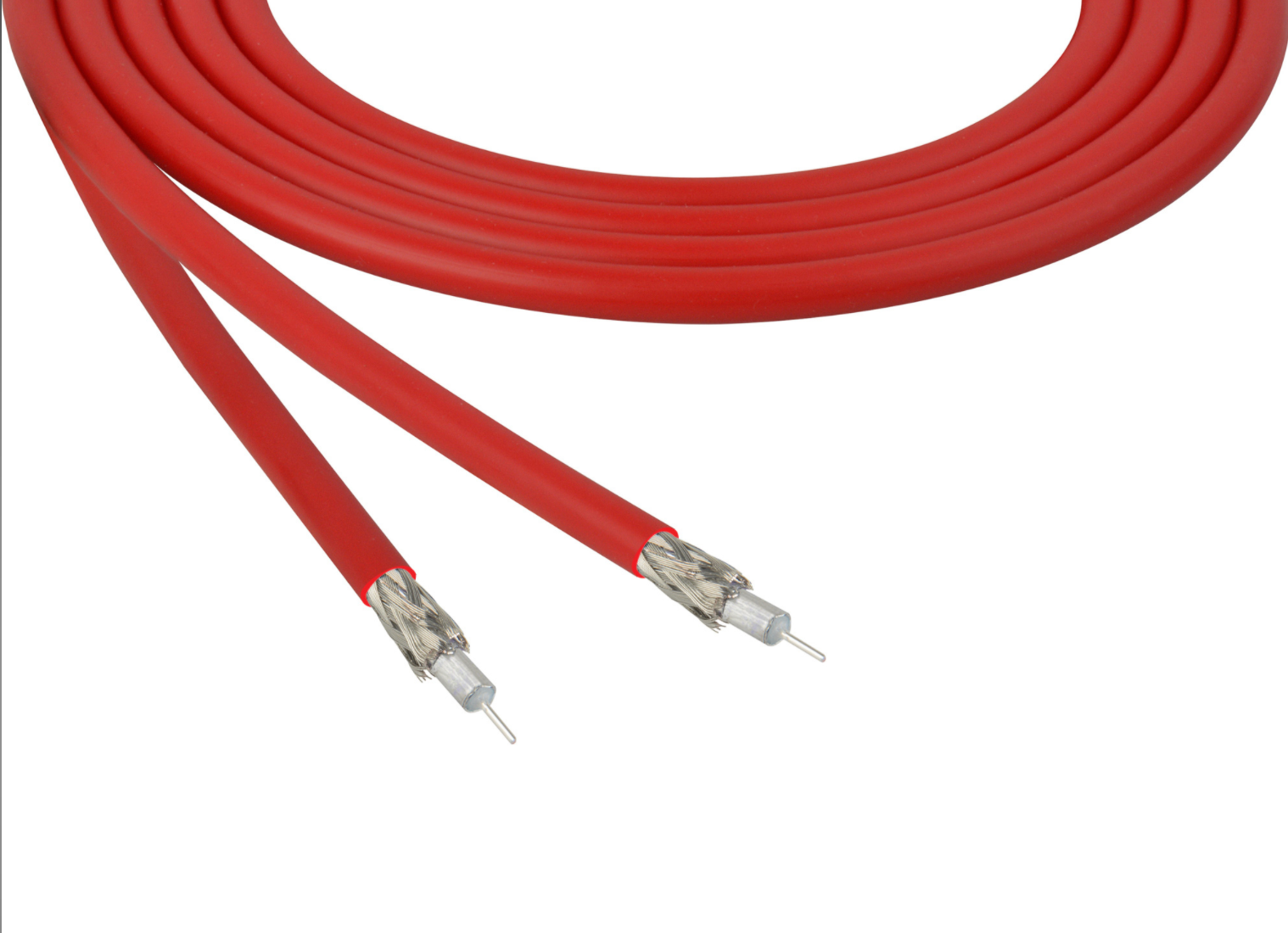 Belden 4855R 12G-SDI 4K UHD Red Coax Cable - 23 AWG - 1000 Foot