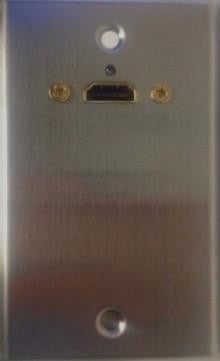 Stainless Steel Wall Plate HDMI Right Angle Pass-Through Philmore 75-577