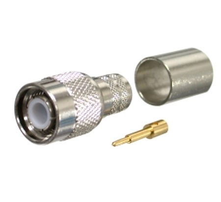 TNC Male Crimp Connector for LMR-400, Belden 9913