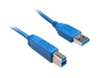 USB 3.0 Printer / Device Cable, Blue, Type A Male to Type B Male, 6 foot