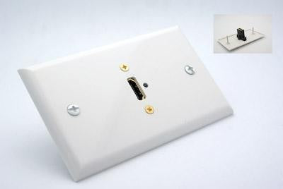 White Wall plate with HDMI Feed Thru Jack - Philmore 75-667