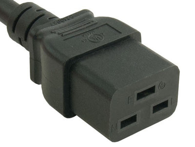 10 foot Heavy Duty Power Cord 14 AWG (IEC-320-C19 to NEMA 5-15P) 15 AMP