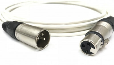 75ft Plenum Jacket XLR Male to Female Cable White