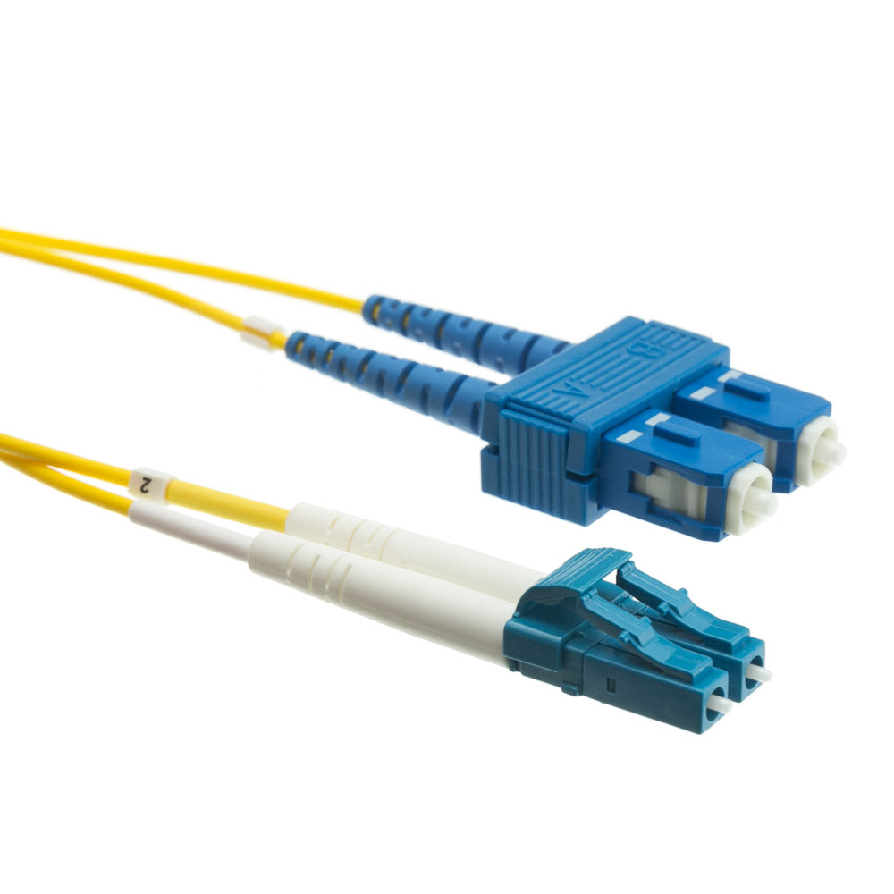 LC to SC Duplex Single Mode 9/125 2MM Fiber Cable