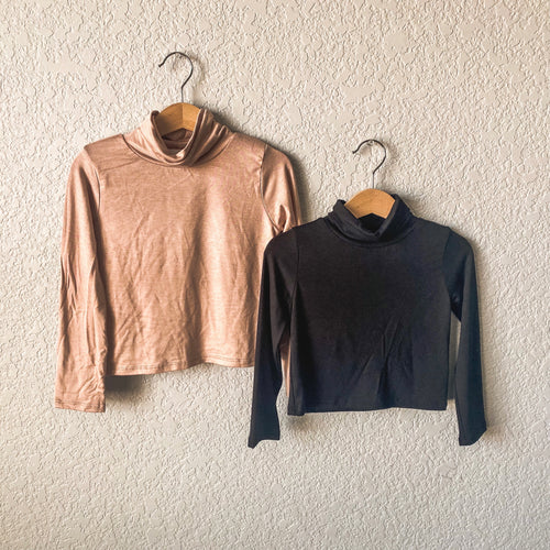 marlena turtle necks | tan, black & maroon