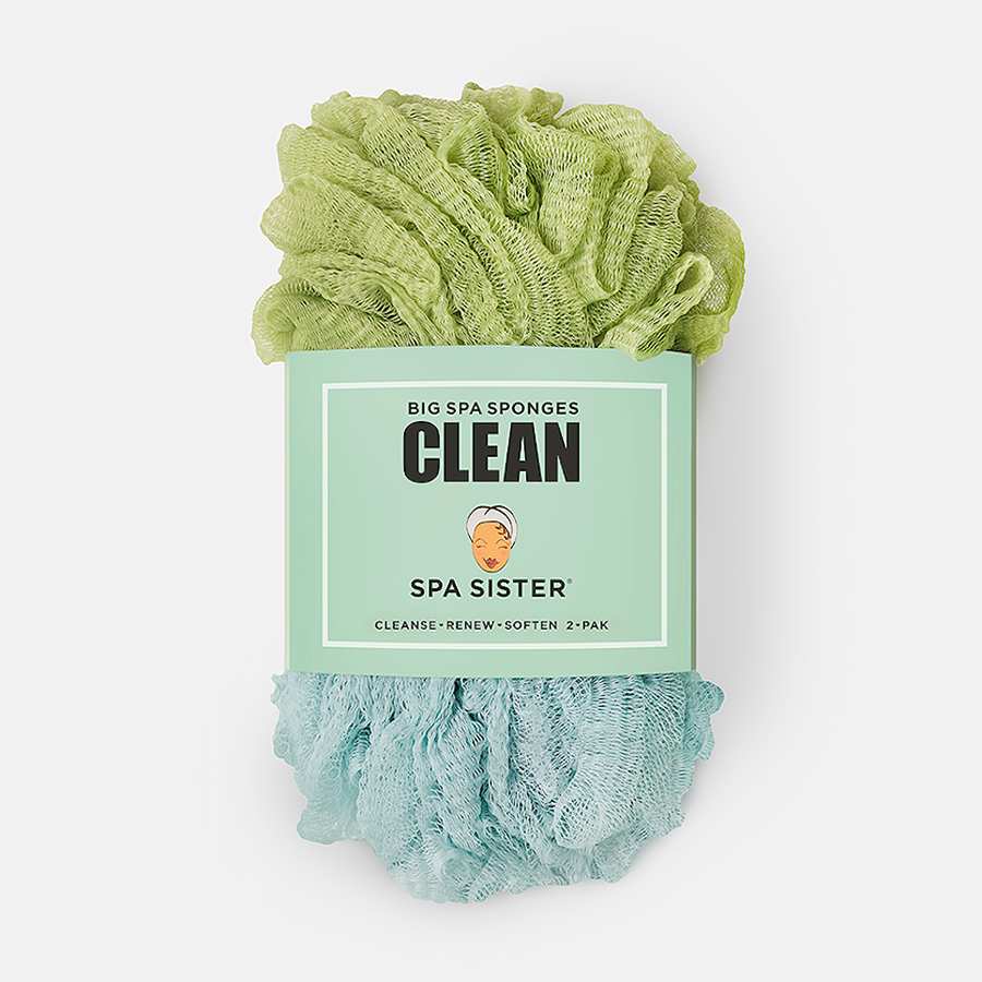 CLEAN BIG SPA SPONGES - GREEN / MARINE