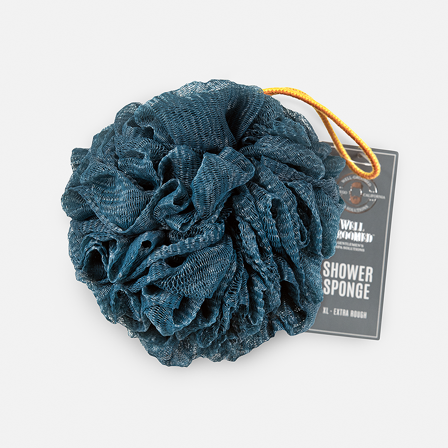 WELL GROOMED JUMBO EXTRA ROUGH SHOWER SPONGE - DARK TEAL