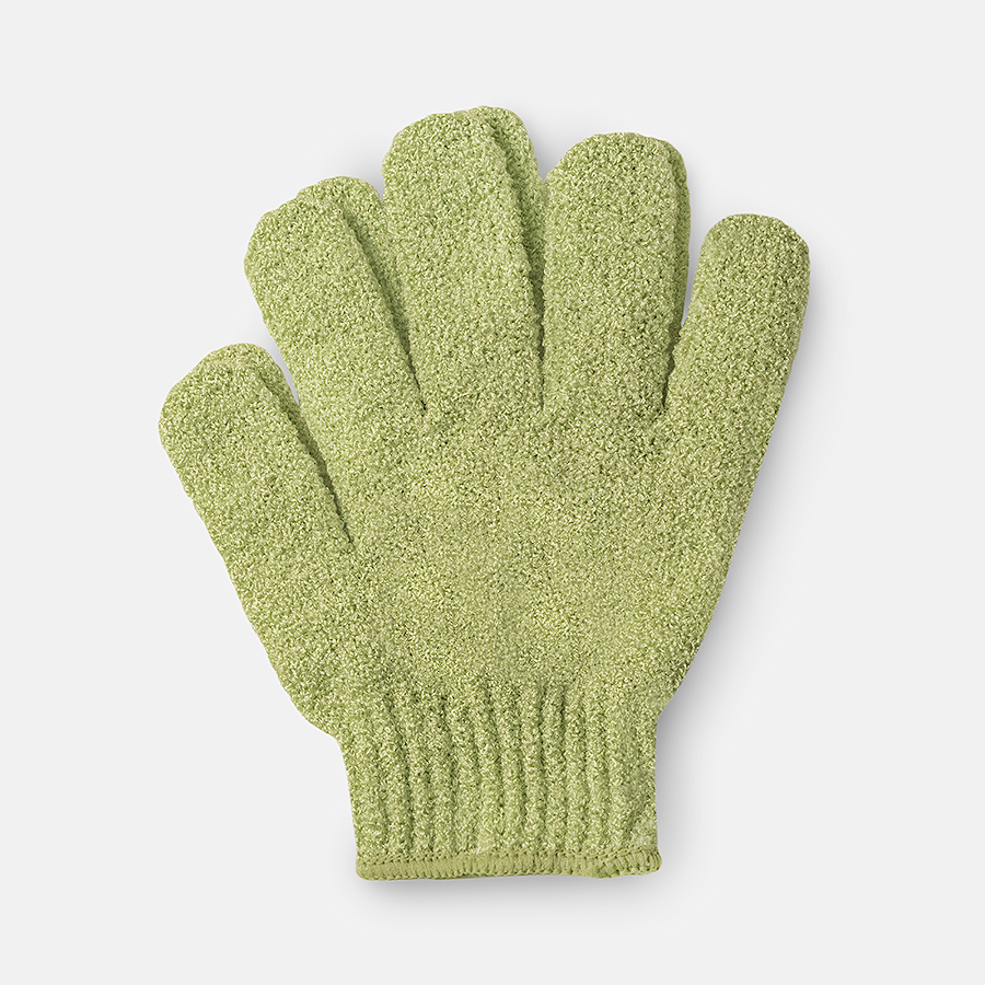WELL GROOMED XL EXTRA ROUGH SHOWER GLOVES - SAGE GREEN