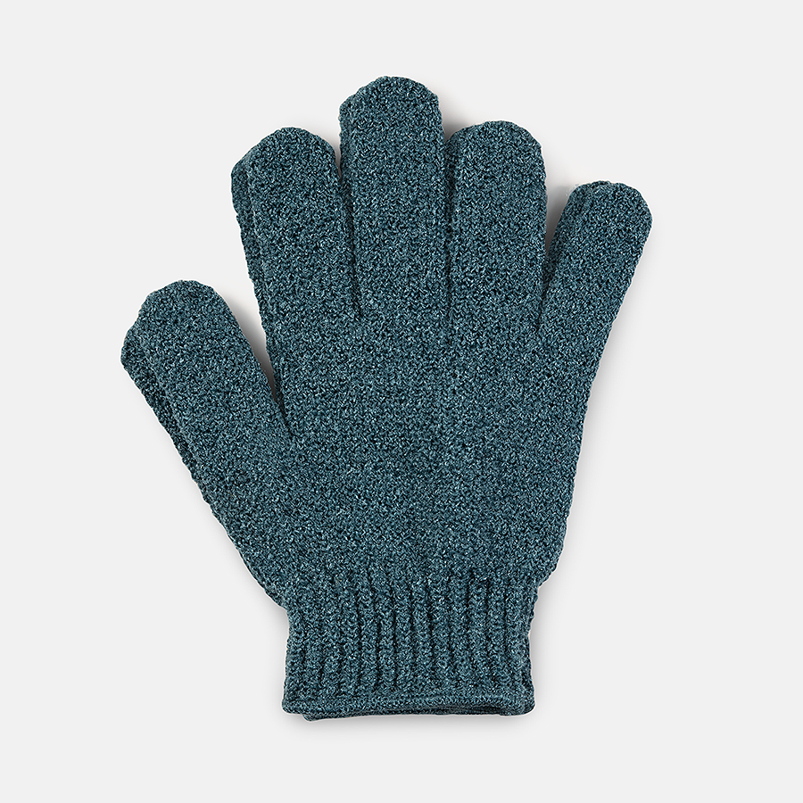 WELL GROOMED XL EXTRA ROUGH SHOWER GLOVES - DARK TEAL
