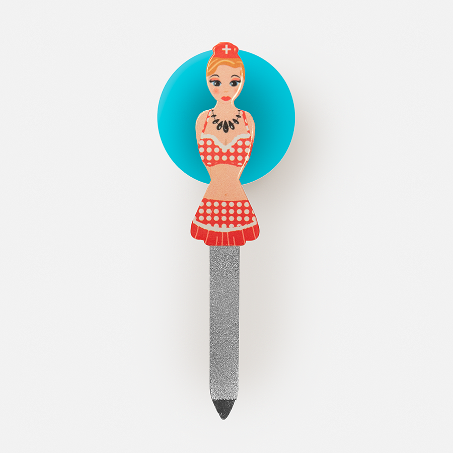SPOILED GIRL NAIL FILE WITH SUCTION CUP