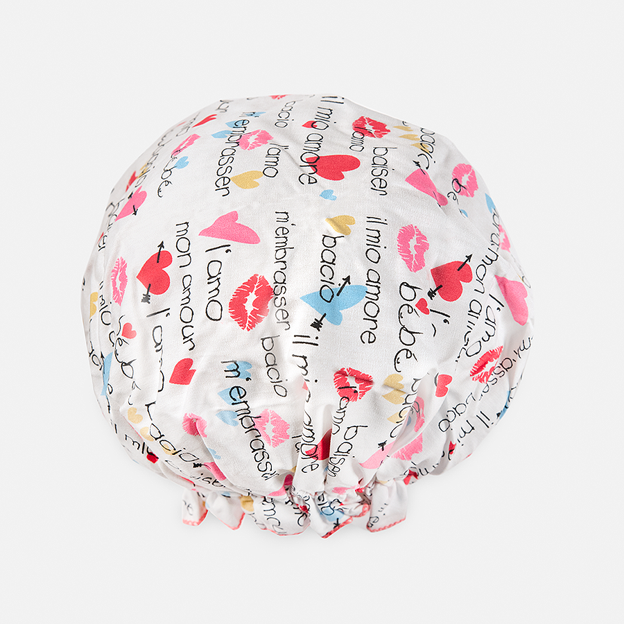 BOUFFANT SHOWER CAP - LOVE