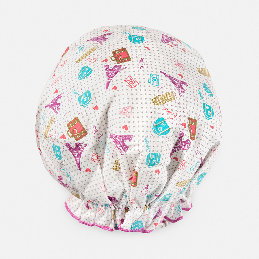 BOUFFANT SHOWER CAP - WORLD TRAVELER
