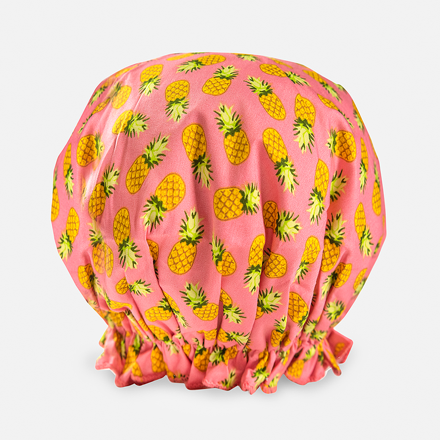 Bouffant Shower Cap - Retro Pineapples