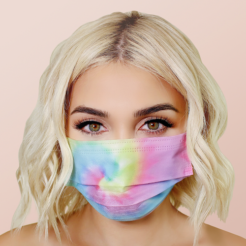 Tie Dye Face Masks 20pk <br> 3ply Disposable, Non-Medical