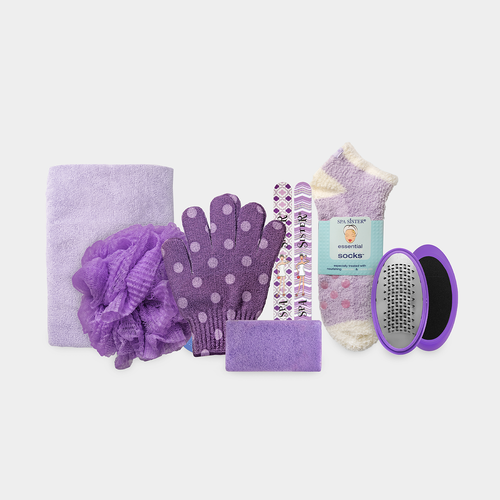 Relax & Renew Gift Basket - Purple