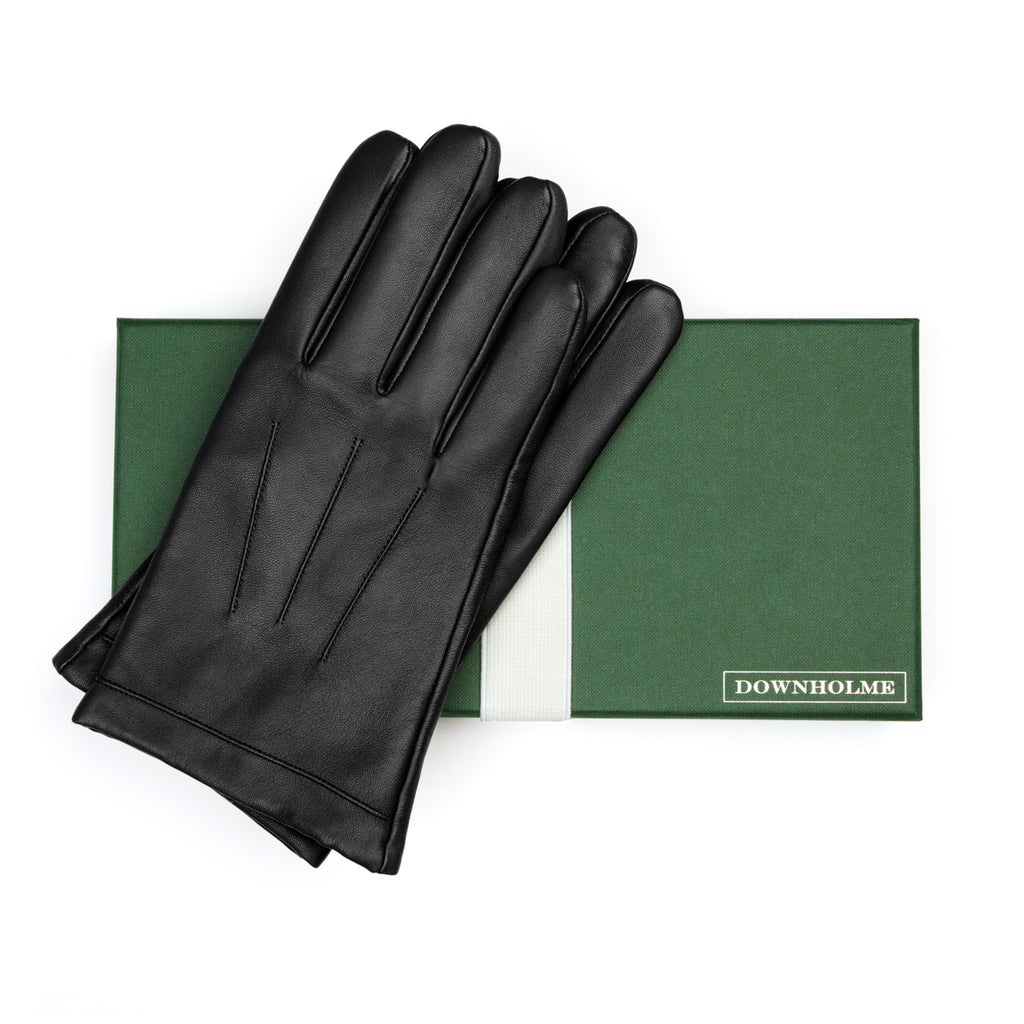 Men's Vegan Leather Gloves - Black, DH-VLM-BLKS, DH-VLM-BLKM, DH-VLM-BLKL, DH-VLM-BLKXL