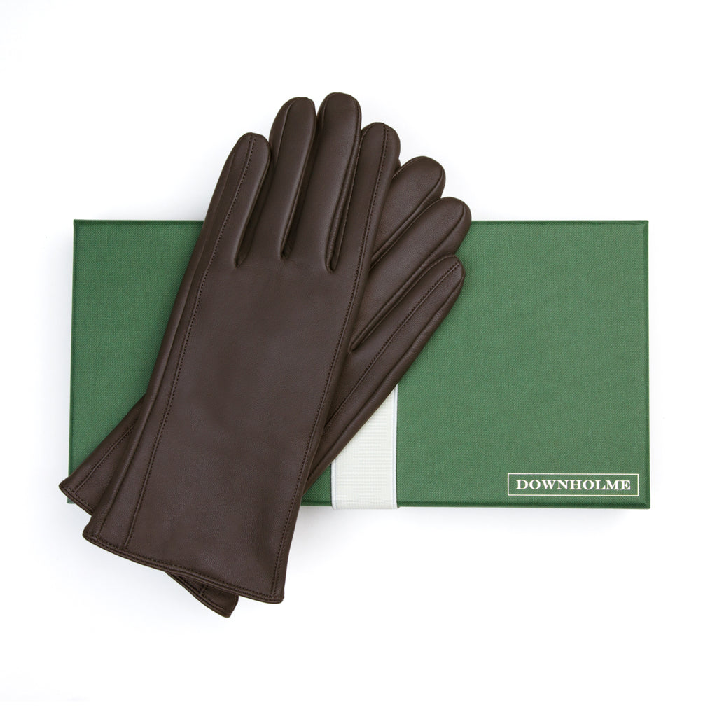 Women's Vegan Leather Gloves - Brown, DH-VLW-BRNS, DH-VLW-BRNM, DH-VLW-BRNL, DH-VLW-BRNXL