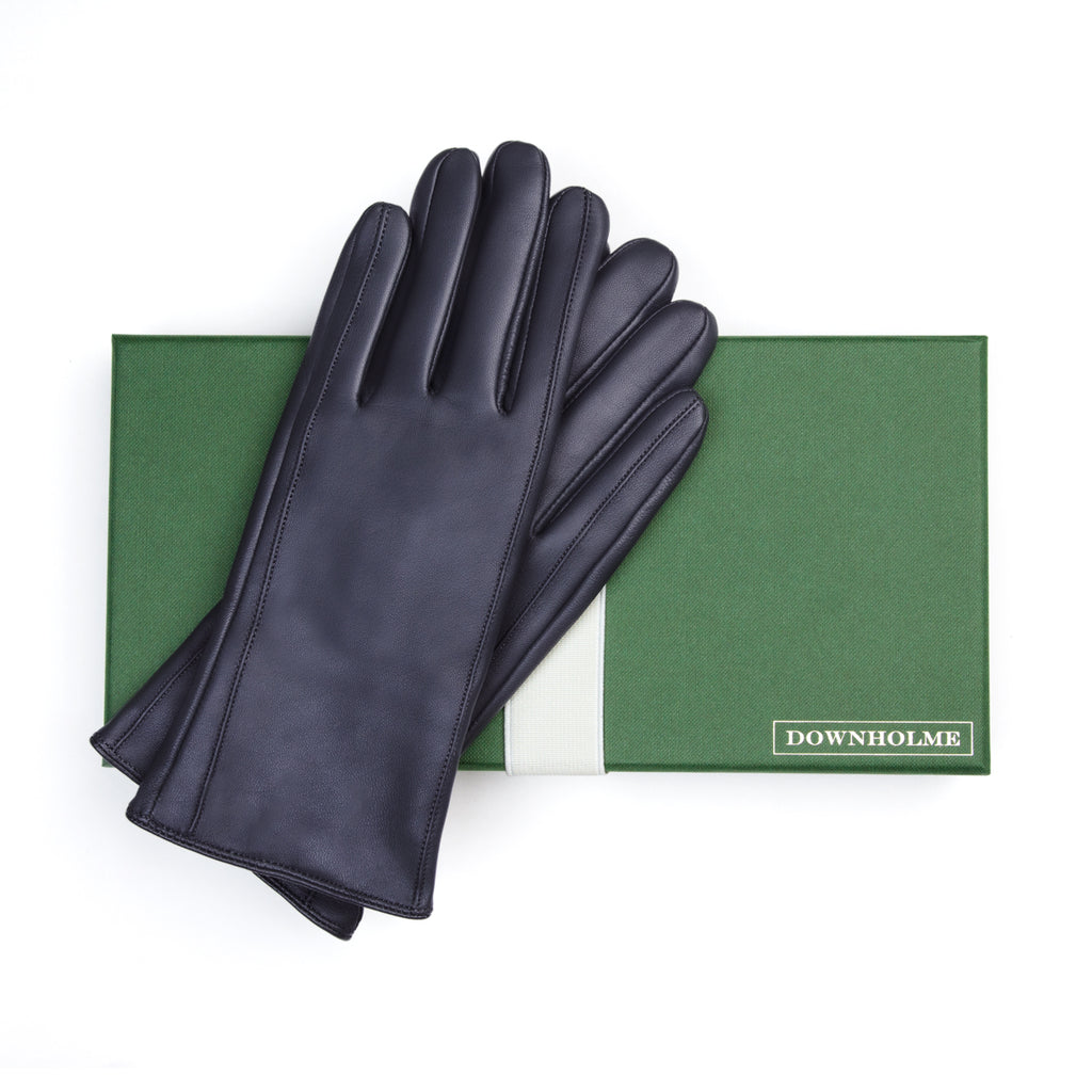 Women's Vegan Leather Gloves - Dark Blue, DH-VLW-NVYS, DH-VLW-NVYM, DH-VLW-NVYL, DH-VLW-NVYXL