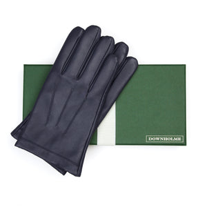 Men's Vegan Leather Gloves - Dark Blue, DH-VLM-NVYS, DH-VLM-NVYM, DH-VLM-NVYL, DH-VLM-NVYXL