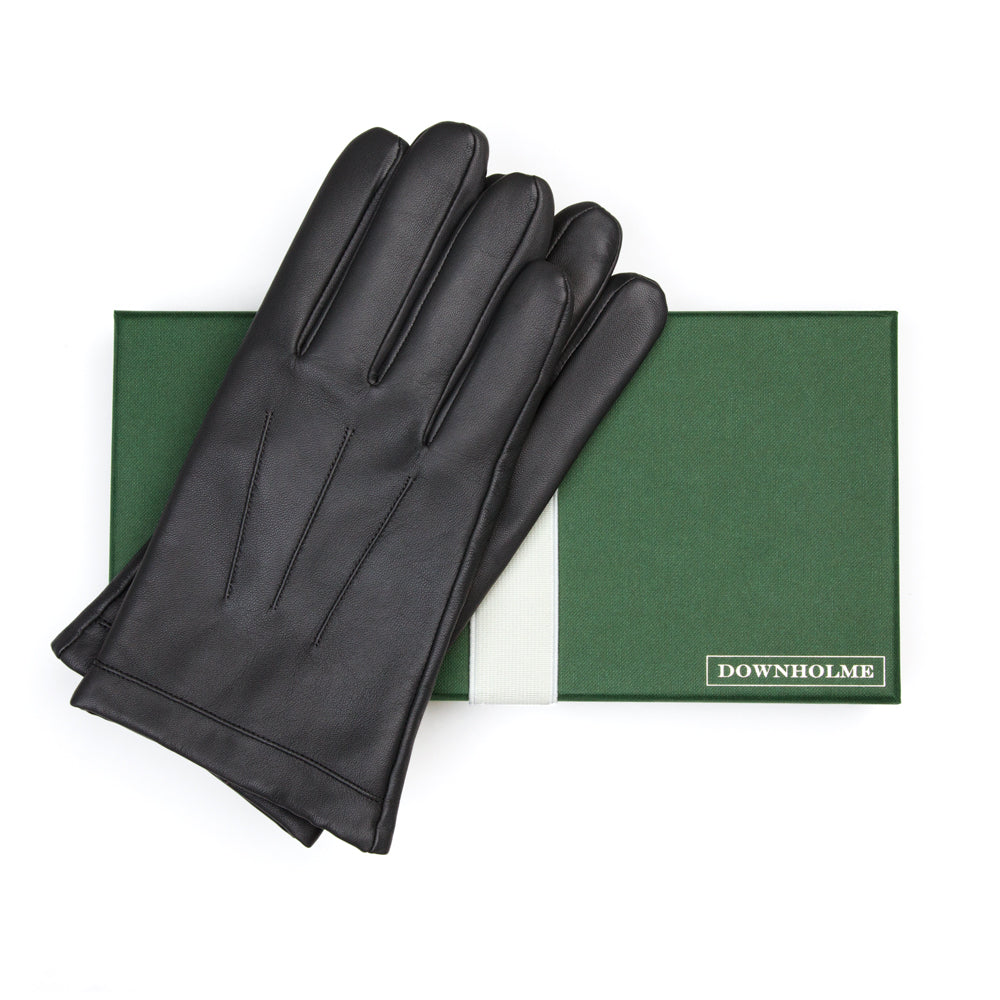 Men's Classic Leather Cashmere Lined Gloves - Black, DH-LCM-BLKXXL, DH-LCM-BLKXL, DH-LCM-BLKL, DH-LCM-BLKM, DH-LCM-BLKS, DH-LCM-BLKXS
