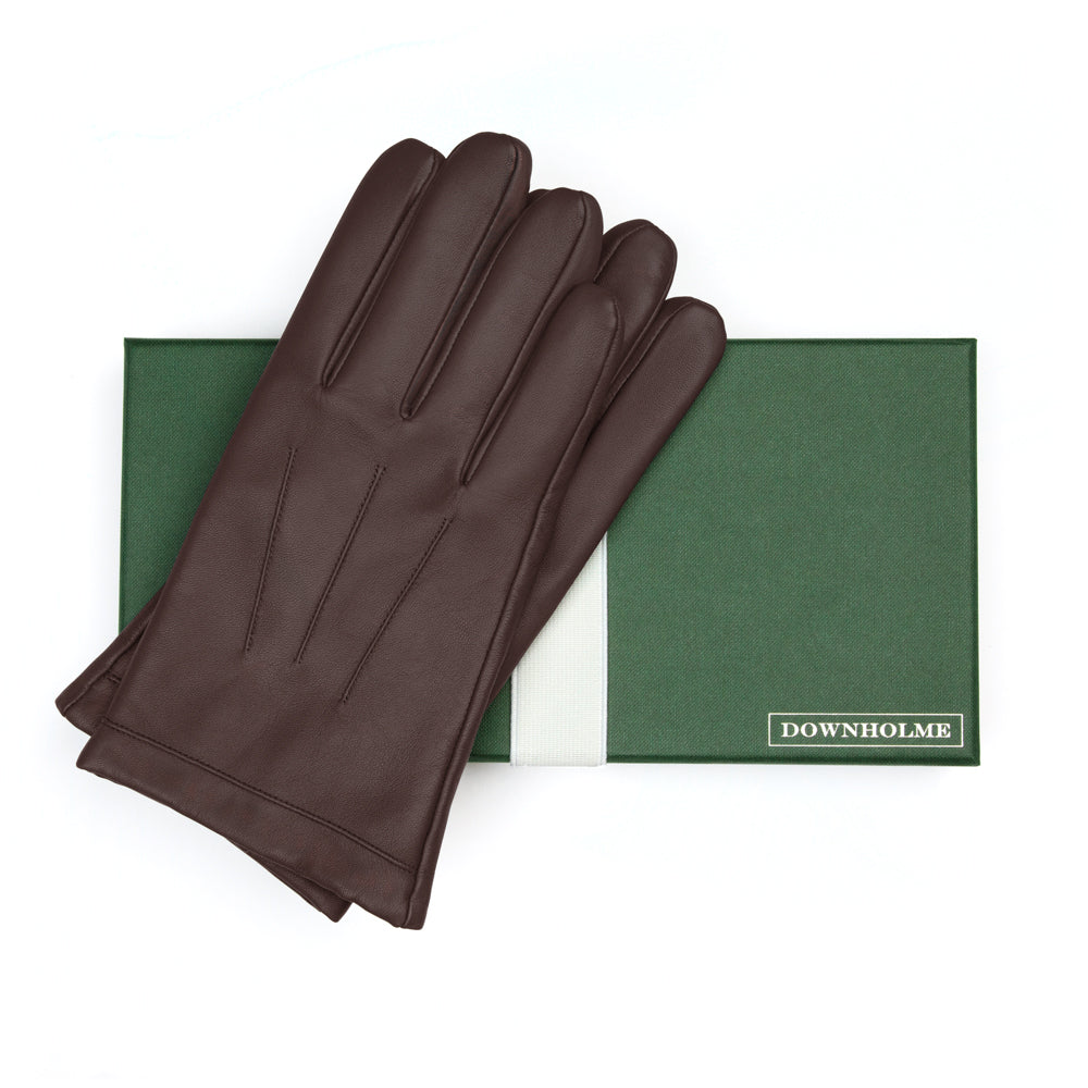 Men's Touchscreen Leather Cashmere Lined Gloves - Brown, DH-TLCM-BRNXXL, DH-TLCM-BRNXL, DH-TLCM-BRNL, DH-TLCM-BRNM, DH-TLCM-BRNS, DH-TLCM-BRNXS