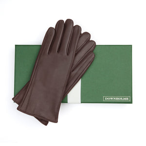 Women's Touchscreen Leather Cashmere Lined Gloves - Brown, DH-TLCW-BRNXS, DH-TLCW-BRNS, DH-TLCW-BRNM, DH-TLCW-BRNL, DH-TLCW-BRNXL
