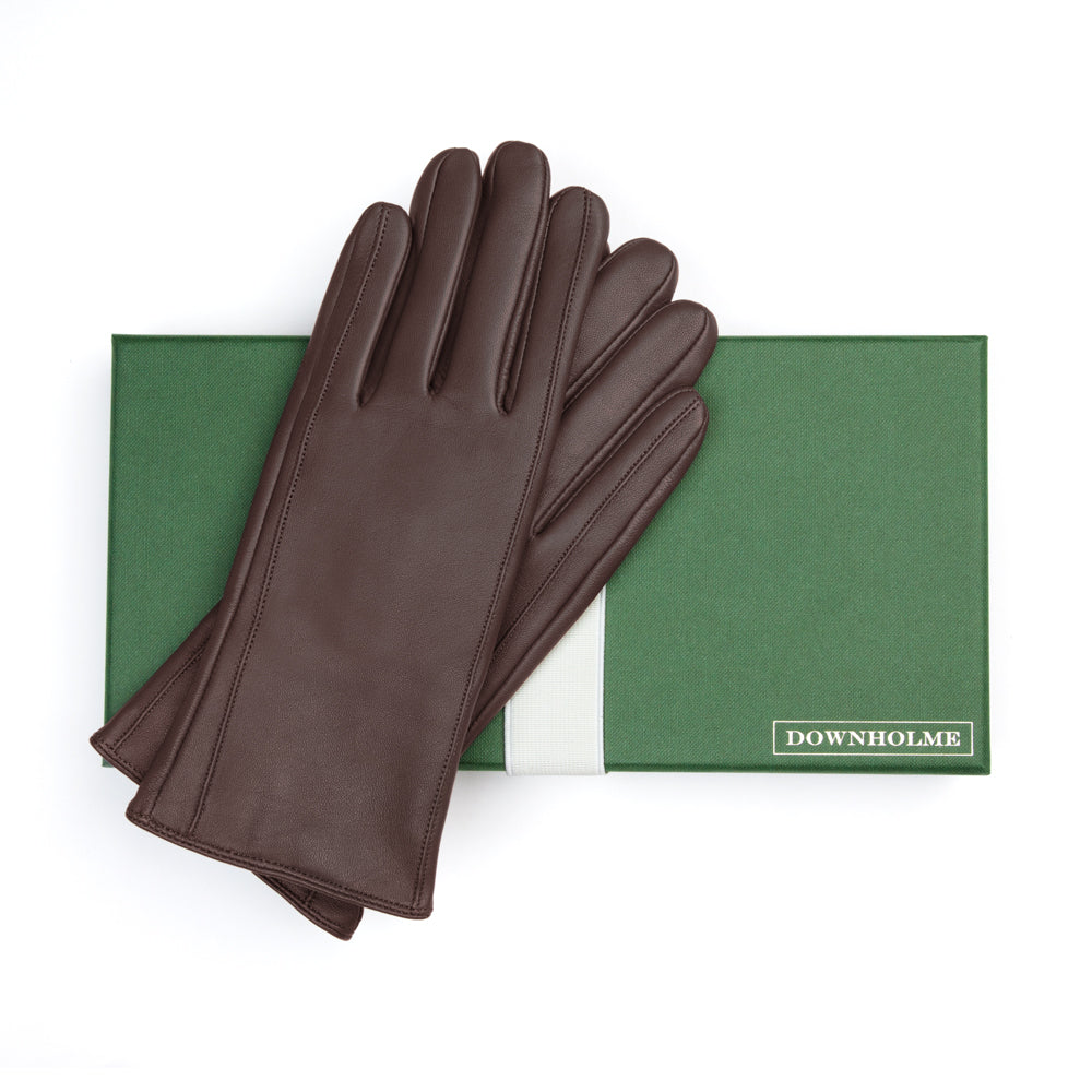 Women's Classic Leather Cashmere Lined Gloves - Brown, DH-LCW-BRNXL, DH-LCW-BRNL, DH-LCW-BRNM, DH-LCW-BRNS, DH-LCW-BRNXS