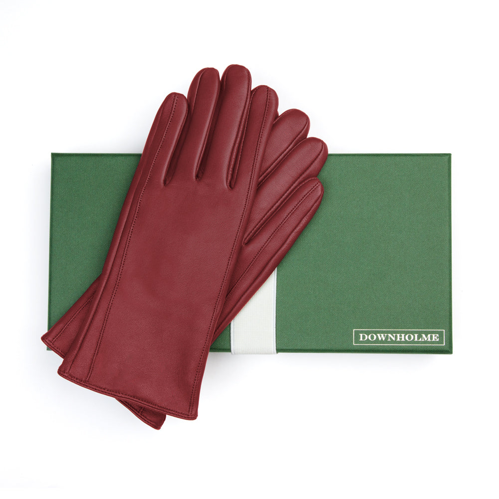 Women's Classic Leather Cashmere Lined Gloves - Burgundy, DH-LCW-BDYXL, DH-LCW-BDYL, DH-LCW-BDYM, DH-LCW-BDYS, DH-LCW-BDYXS