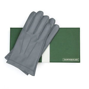 Men's Classic Leather Cashmere Lined Gloves - Gray, DH-LCM-GRYXXL, DH-LCM-GRYXL, DH-LCM-GRYL, DH-LCM-GRYM, DH-LCM-GRYS, DH-LCM-GRYXS