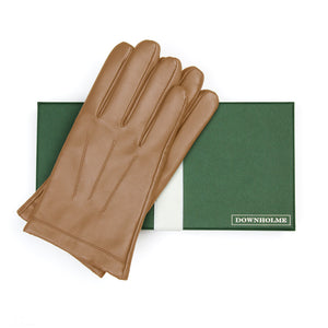 Men's Classic Leather Cashmere Lined Gloves - Tan, DH-LCM-TANXXL, DH-LCM-TANXL, DH-LCM-TANL, DH-LCM-TANM, DH-LCM-TANS, DH-LCM-TANXS
