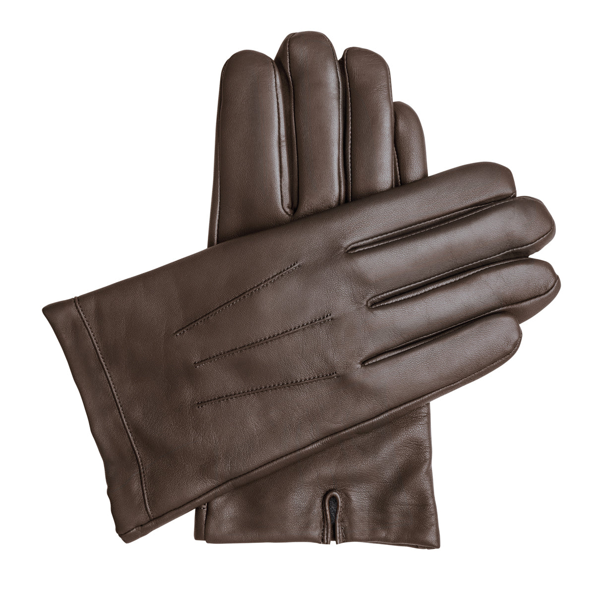 Men's Vegan Leather Gloves - Brown, DH-VLM-BRNS, DH-VLM-BRNM, DH-VLM-BRNL, DH-VLM-BRNXL