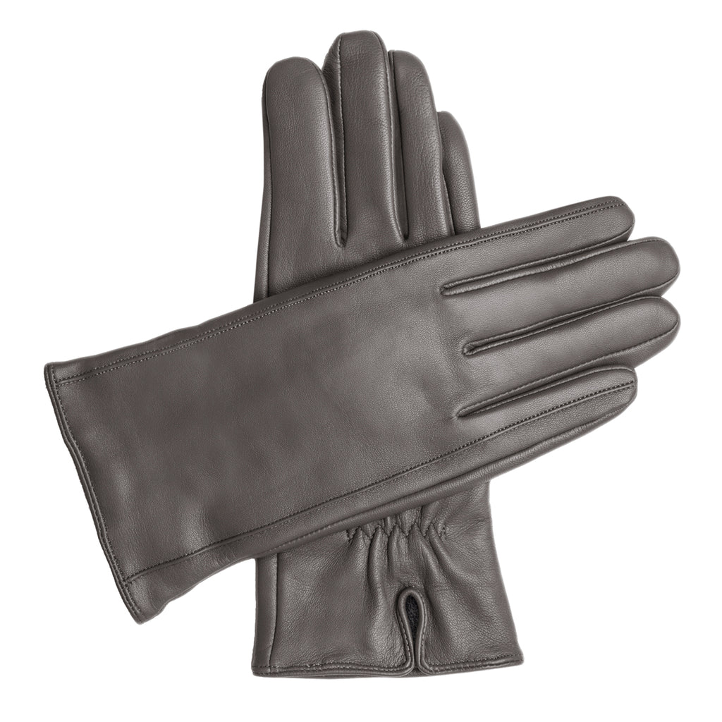 Men's Vegan Leather Gloves - Gray, DH-VLM-GRYS, DH-VLM-GRYM, DH-VLM-GRYL, DH-VLM-GRYXL