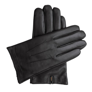 Men's Touchscreen Leather Cashmere Lined Gloves - Black, DH-TLCM-BLKXXL, DH-TLCM-BLKXL, DH-TLCM-BLKL, DH-TLCM-BLKM, DH-TLCM-BLKS, DH-TLCM-BLKXS