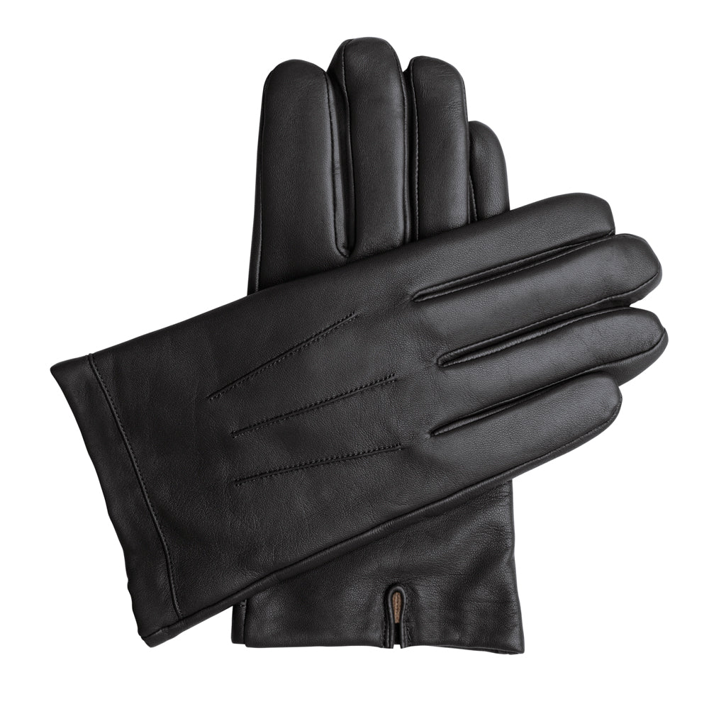 8567873a7804c Men's Classic Leather Cashmere Lined Gloves - Black