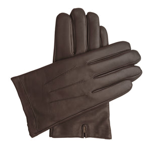 Men's Classic Leather Cashmere Lined Gloves - Brown, DH-LCM-BRNXXL, DH-LCM-BRNXL, DH-LCM-BRNL, DH-LCM-BRNM, DH-LCM-BRNS, DH-LCM-BRNXS
