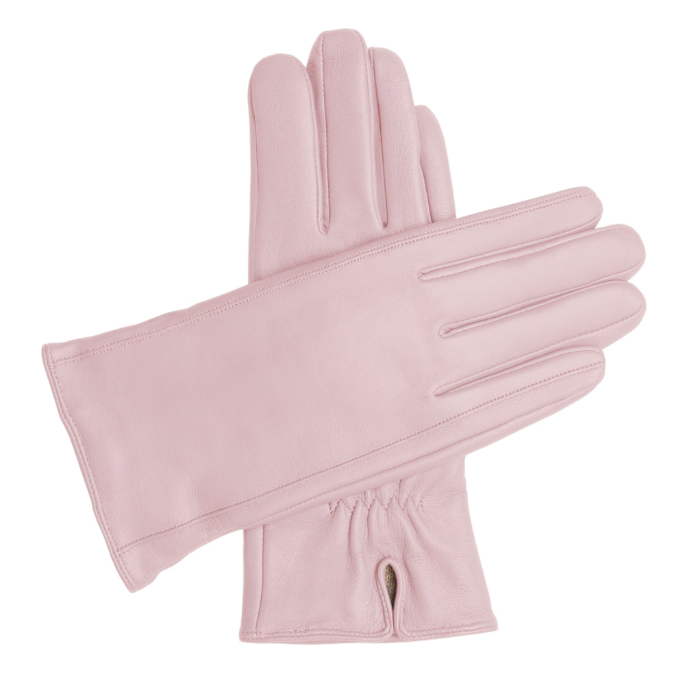 Women's Classic Leather Cashmere Lined Gloves - Pink, DH-LCW-PNKXL, DH-LCW-PNKL, DH-LCW-PNKM, DH-LCW-PNKS, DH-LCW-PNKXS