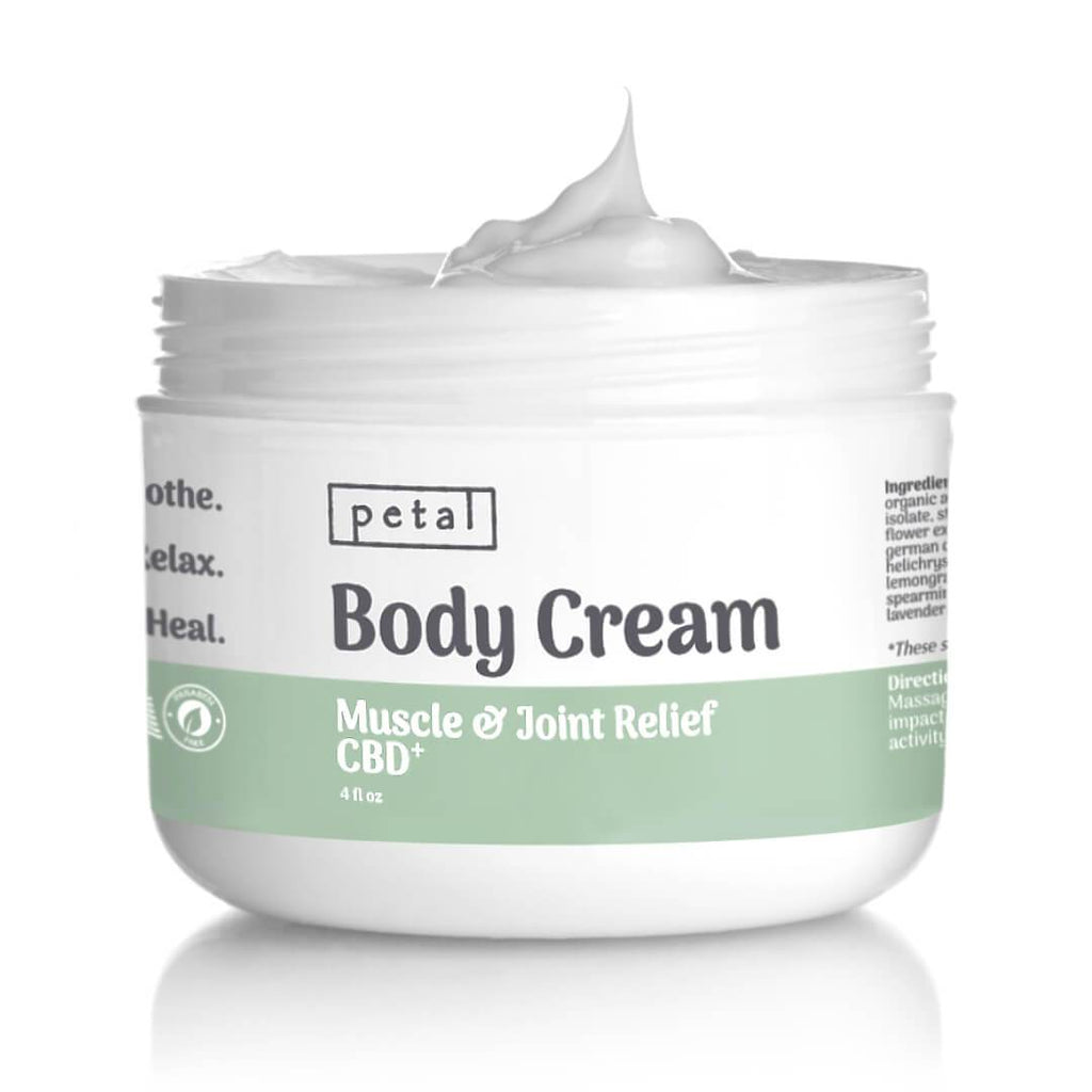 1000mg CBD Body Cream for muscle and joint pain relief - Petal CBD