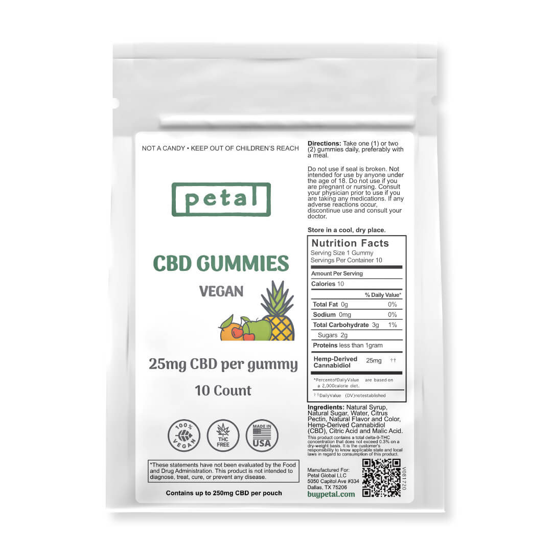 CBD Vegan  Gummies - 10 count