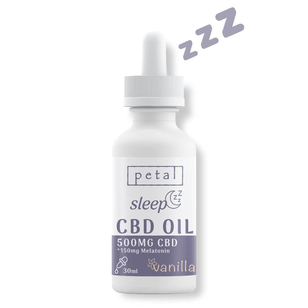 500mg CBD Sleep Oil with melatonin - vanilla - Petal CBD