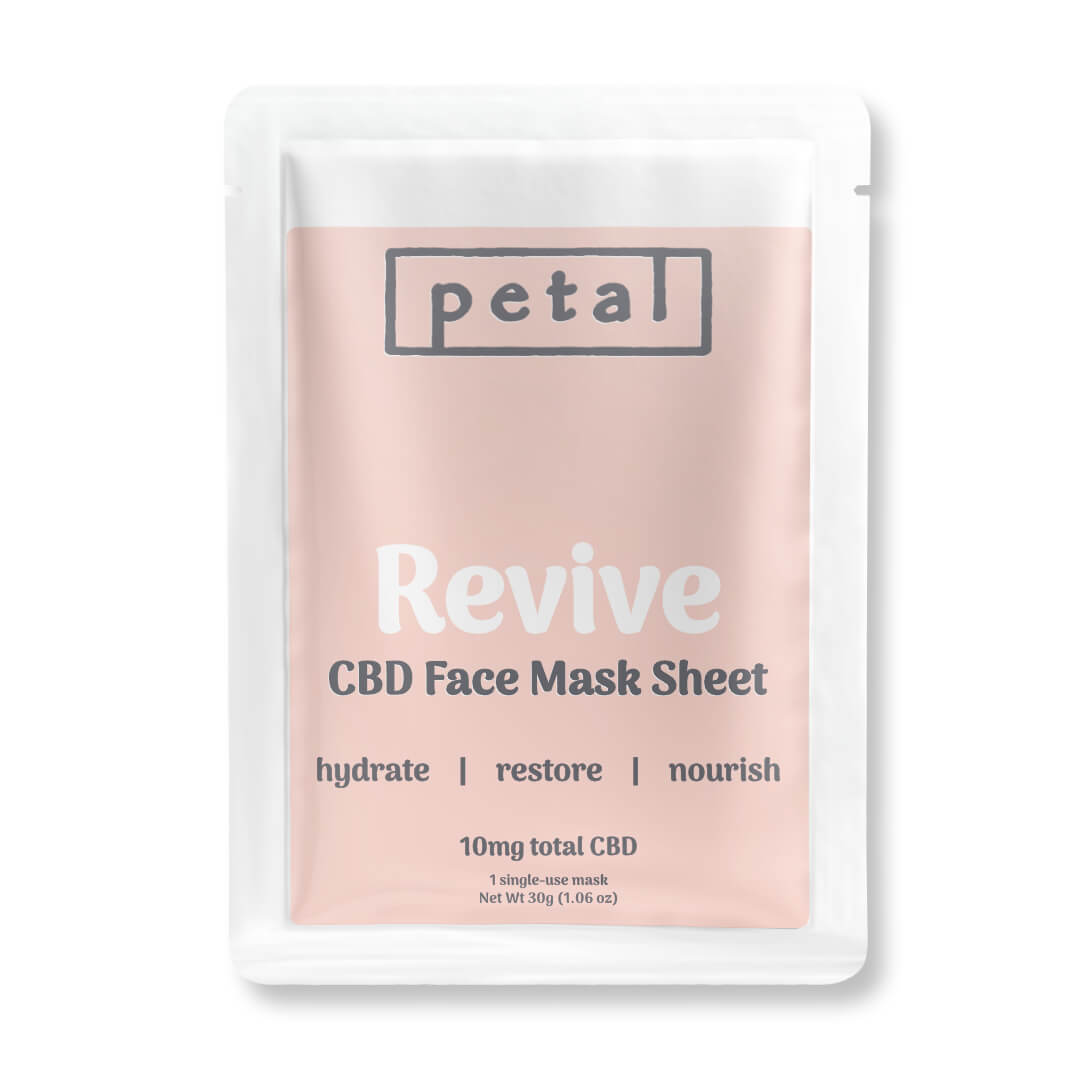 Revive CBD Face Mask Sheet - 10mg - Petal CBD