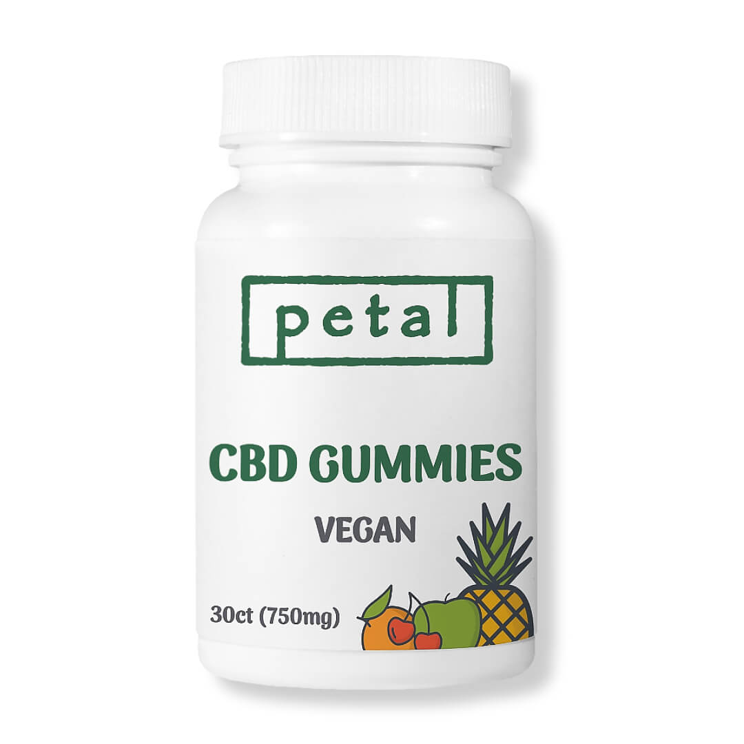 vegan cbd gummies - 750mg - Petal CBD
