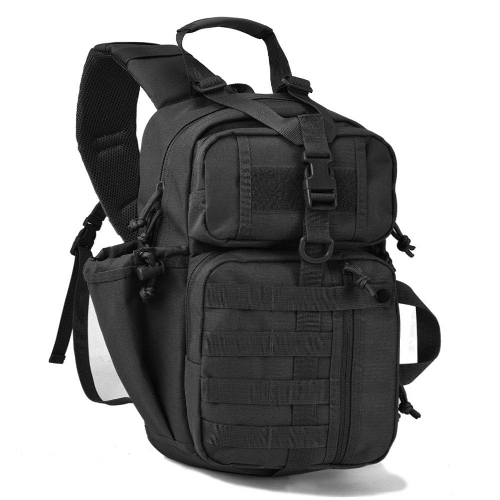 BOW-TAC tactical bags - Black military sling bag pack - Main view