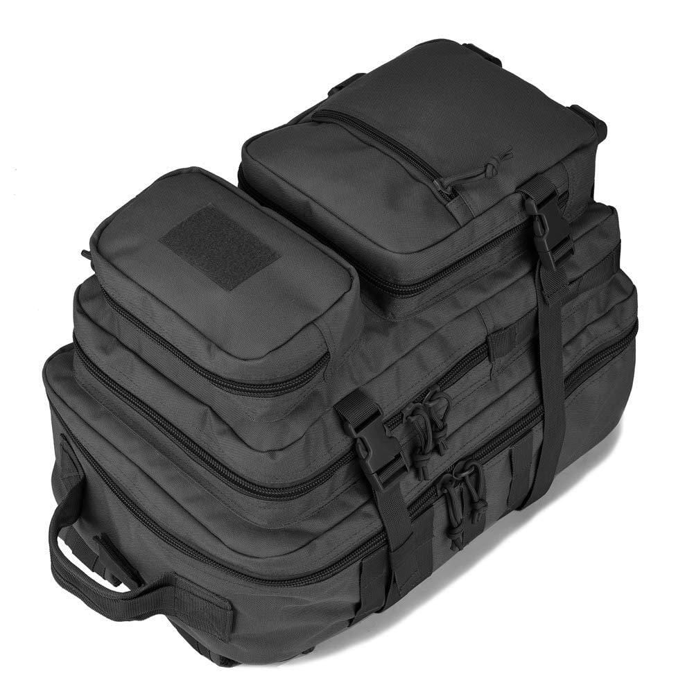 BOW-TAC tactical backpacks - Black 34L tactical backpack with gun holster - Lie down