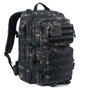 BOW-TAC tactical backpacks - Black camo 40L tactical backpack - Main view