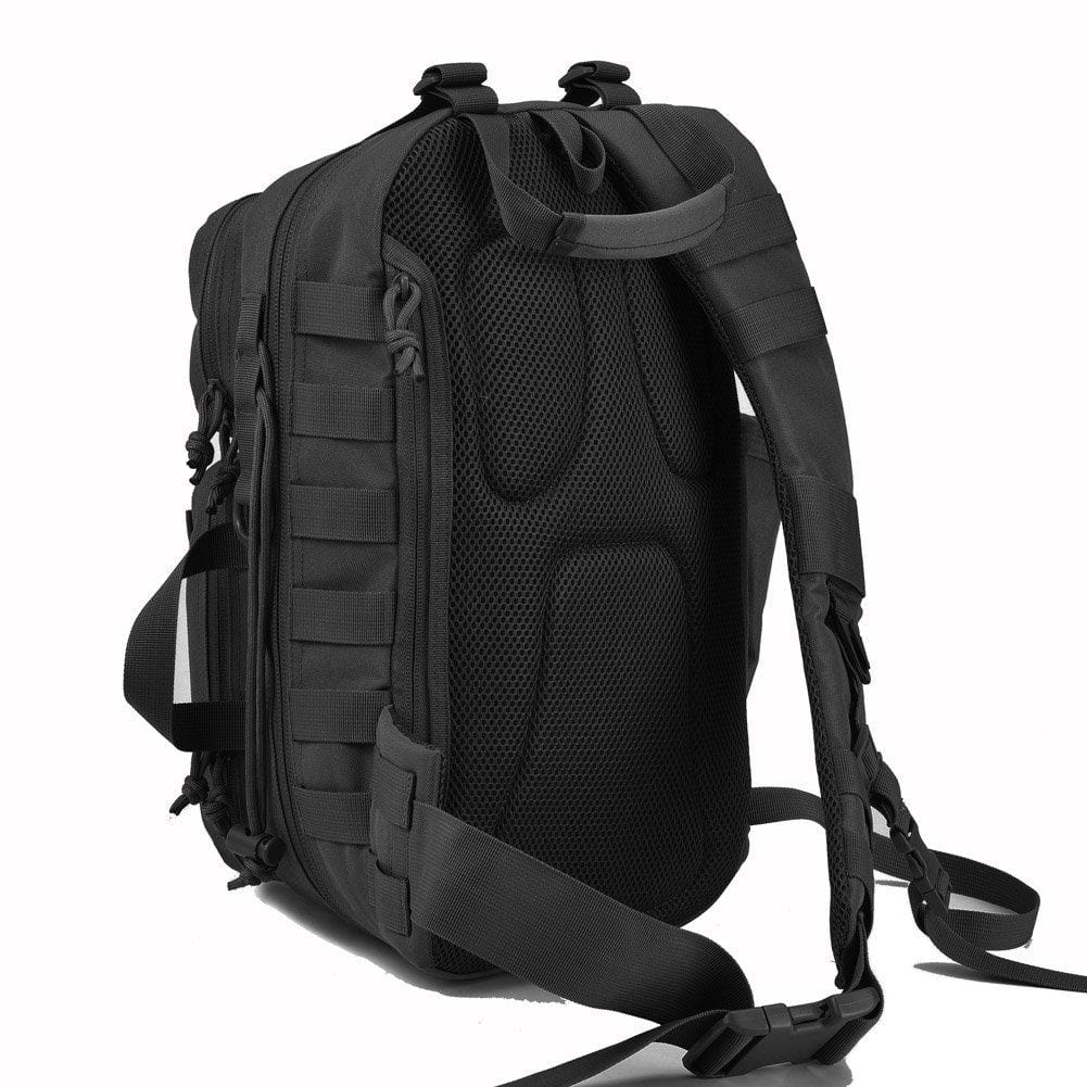 BOW-TAC tactical bags - Black military sling bag pack - Back view