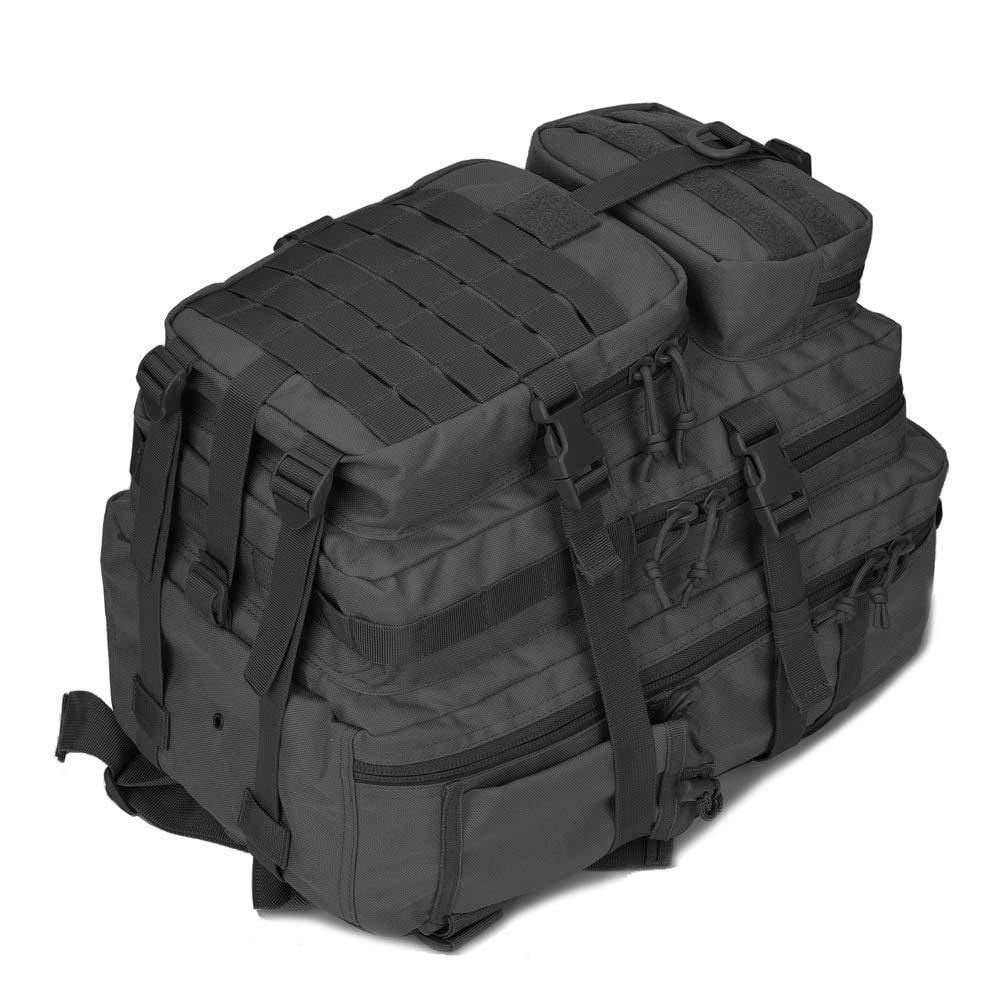 BOW-TAC tactical backpacks - Black 34L molle bug out backpack - Bottom detail