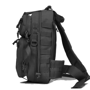 BOW-TAC tactical bags - Black military sling bag pack - Side view