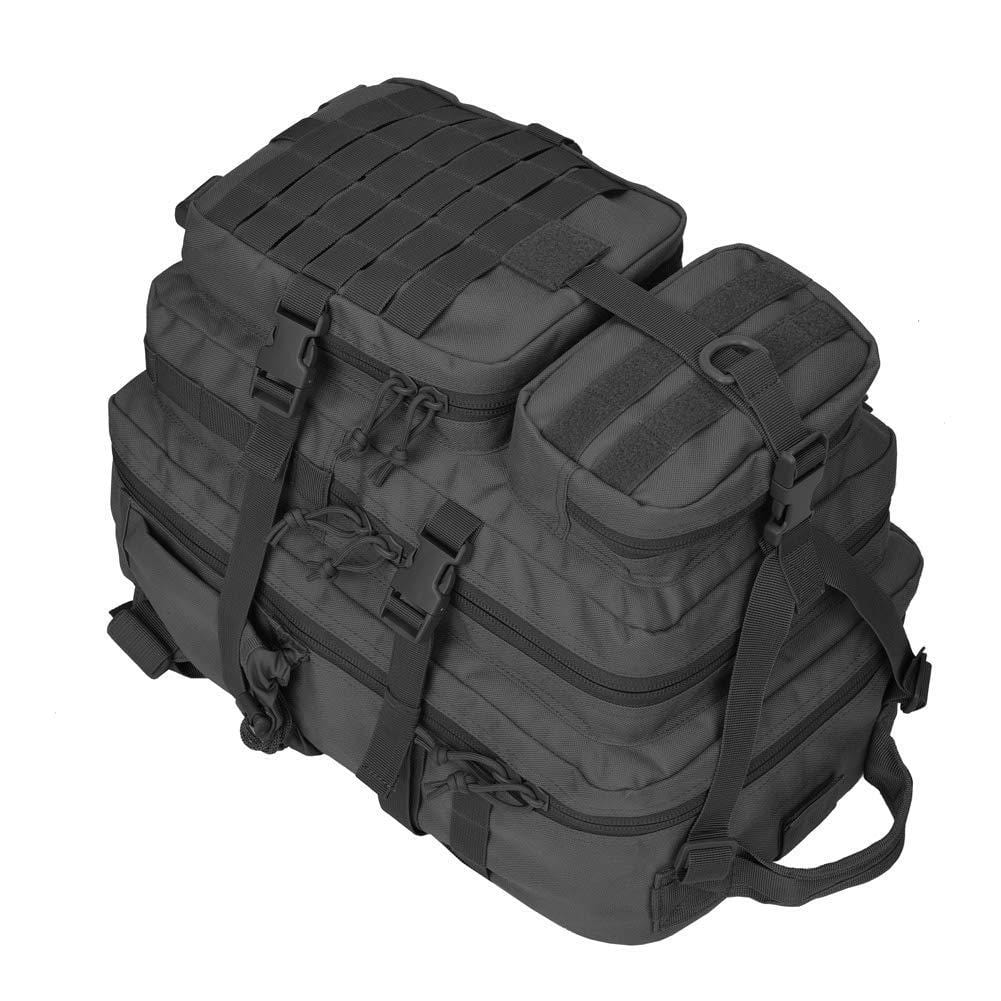 BOW-TAC tactical backpacks - Black 34L molle bug out backpack - Top detail